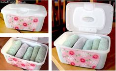 My Top Ten Repurposed Household Containers / These were made from Baby Wipes containers! Tide Pods Container, Baby Wipes Container, Upcycled Crafts, Repurposed Items, Reuse Recycle, Diy Cleaning Products, Cleaning Tips, Organizing Your Home, Fun To Be One