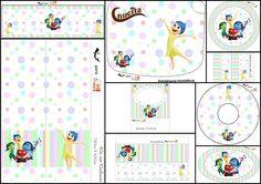 Del Revés, Intensamente o Inside Out: Etiquetas para Candy Bar para Imprimir Gratis.