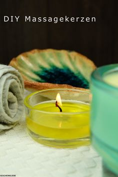 "Massagekerzen (""body candles"") selbst gemacht. Das ist viel einfacher als zunächst gedacht! 