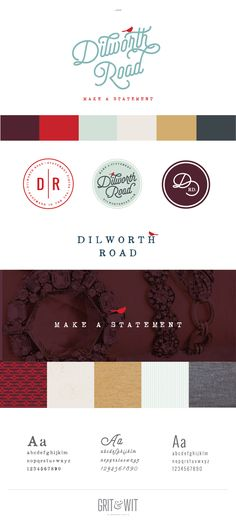 Brand Reveal / Dilworth Road / Grit & Wit #branding #design #tagline #gritandwit #newwork