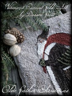 Olde Father Christmas Primitive Punch Needle PDF by vermontharvest