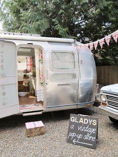 Love this vintage camper van shop