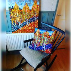 'Autumn Birches' - original painting on canvas accompanied by art-on-pillow design from Society6.  - www.society6.com/artgaragefinland . . . . 1. #pillows 2. #society6  3. #cushions 4. #comfy 5. #artonpillows 6. #instapillow 7. #art  8. #trees 9. #birchtree 10. #homedecor 11. #birch 12. #collect_art 13. #instaart 14. #instadecor 15. #homeinteriors 16. #artistsofinstagram 17. #paintings 18. #impressionism 19. #livingroomdecor 20. #instahome 21. #artsy 22. #a