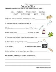 Worksheets Office Worksheets doctors office worksheet doctor social studies and fill in the blanks