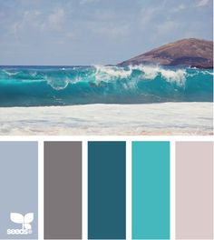 Find the palettes you love!  What a cool website!  Enter the amount of each color you want to look for - up comes pages of color palettes for you to choose from!  Beautiful inspiration! Probably good colors for a bathroom ^_^