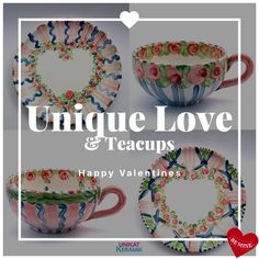 Tea Cups, Decorative Plates, Valentines, Home Decor, Valentines Day, Valentine's Day Diy, Decoration Home, Room Decor, Valentine's Day