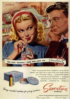 Seventeen Cosmetics ad from 1947