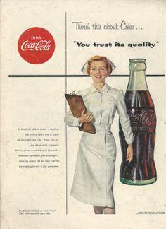 CocaCola Original 1954 Vintage Ad w/ Photo of by VintageAdarama, $9.99