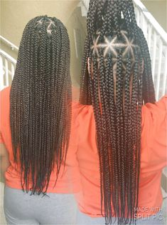 Box Braids with Triangle Parts for Sis #BraidsForMediumLengthHair Like what you see? click on the link to find out more.