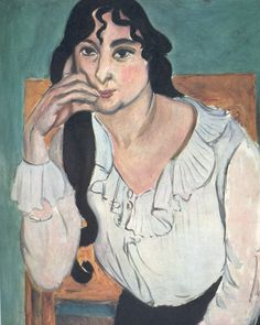 Henri Matisse  -  LAURETTE WITH A WHITE BLOUSE  Private Collection  52 x 42 cm.  1916