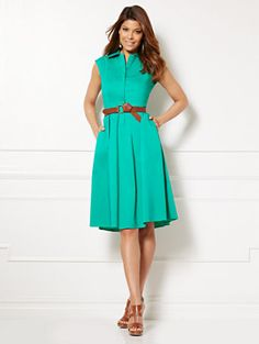 Shop Eva Mendes Collection - Britta Shirtdress. Find your perfect size online at the best price at New York & Company.