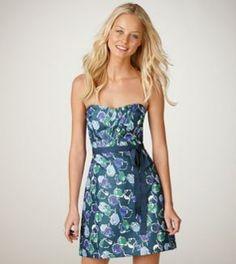 AE shimmer floral brocade dress
