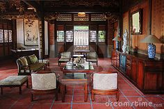 Living Room Of Clical Chinese House Stock Image Table Clic 15081439