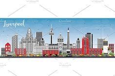 #Liverpool #Skyline with #Color  by Igor Sorokin on @creativemarket