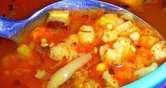 Homemade Instant Vegan Soup whit Mushrooms