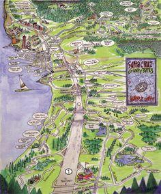 Santa Cruz parks map
