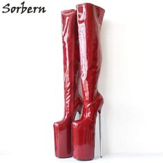Sorbern Sexy Extrem High Heels Over the Knee Boots Unisex Ladies Shoes Metal Heeled Custom Color Nightclub Boots Thigh High Thigh High Boots, High Heel Boots, Over The Knee Boots, Extreme High Heels, Sexy High Heels, Platform High Heels, Platform Boots, Best Cosplay Ever, Stiletto Boots