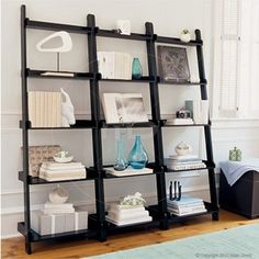 Ladder Bookshelf Decorating