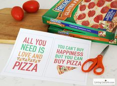 Free Pizza party printables - Easy Pizza Party ideas. Simple Buffet Ideas, All You Need Is, Valentine Pizza, Valentines, Pizza Quotes, Make Your Own Pizza, Pineapple Pizza, Cookie Pizza, Onion Relish
