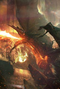 Lava Dragon, Adam Burn on ArtStation at https://www.artstation.com/artwork/lava-dragon-0de5a5fe-6278-4e39-ae18-1757c49a5020