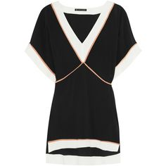 Vix Michele voile tunic (€235) ❤ liked on Polyvore featuring tops, tunics, black and vix
