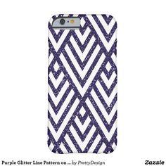 Purple Glitter Line Pattern on Case
