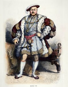 HENRY VIII (1491-1547). King of England, 1509-1547: wood engraving, 19th century.
