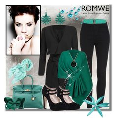 """""""Romwe X-4"""" by azra-90 ❤ liked on Polyvore featuring Kate Spade, Hermès, Chico's, Chicnova Fashion, N°21 and romwe"""