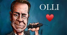 Jos olet Olli-fani, niin käy lataamassa ilmainen huhtikuun karikatyyrikalenterin sivu, siinä komeilee Ollin kuva. #ollilindholm #karikatyyri Portrait, Tattoos, Tatuajes, Men Portrait, Tattoo, Tattoo Illustration, Irezumi, Portraits, A Tattoo