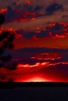 Sunset Red Glowing by Pete Pastika