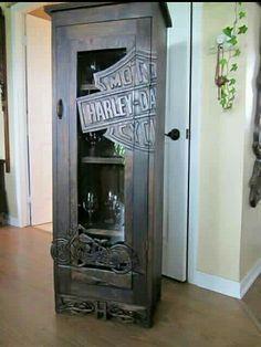 Harley wine cabinet