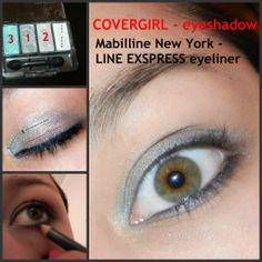 last week i posted a review on COVERGIRL eyeshadow and some other liner.... so now here is the tutorial. P.S put liner on LASH LINE