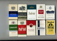 """Last night, Joe Smithy asked a Sheffield lass if she could give him a cigarette for a pound. The proffered pound was unacceptable. """"Why shouldn't I make more money? """"My cigarettes are two pounds each. OK, forget it. Poetry Blogs, Sweet Afton, Marlboro Cigarette, British Traditions, Cigarette Brands, Smoke Art, Old Toys, Make More Money, Vintage"""