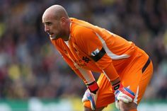 Pepe Reina of Liverpool looks on during the Barclays Premier League match between Norwich City and Liverpool at Carrow Road on September 29, 2012 in Norwich, England
