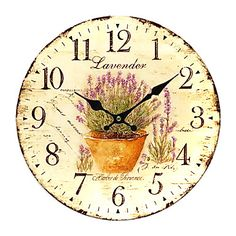 Land Floral Wall Clock - EUR € 30.08