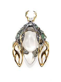 Alexis Bittar - Lucite, Labradorite & Crystal Scarab Beetle Pin - Saks.com