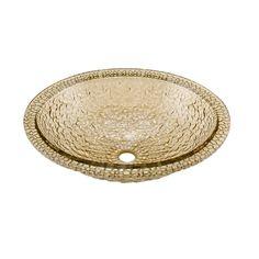 JSG Oceana Pebble Sea Green Glass Drop-In or Undermount Oval Bathroom Sink with Overflow