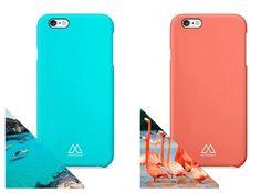 Un buen regalo para Navidad o amigo invisible: los nuevos colores de funda para iPhone 6/6S Azul Menorca y Rosa Flamenco: www.mediterrans.com