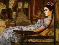 """Frida in Repose"" by George Yepes I own this painting and love it!!"
