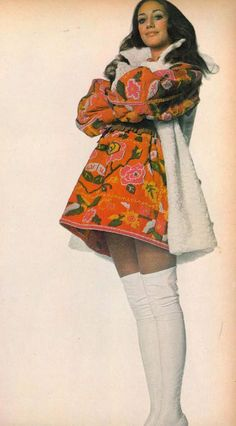 Vogue February 1970 Marisa Berenson by Penn, embroidered coat + white over-knee tights 60s And 70s Fashion, Seventies Fashion, Vintage Fashion, 1960s Fashion Women, 1969 Fashion, Vintage Vogue, Vintage 70s, Patti Hansen, Lauren Hutton