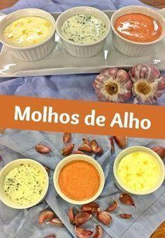 Molho De Alho Recipe Food Pasta And Sauces Menu Brunch, Vegan Recipes, Cooking Recipes, Portuguese Recipes, Chutneys, Mayonnaise, I Foods, Love Food, Dips