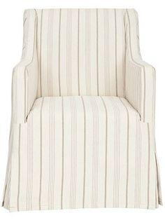 Sandra Slipcover Chair. $450, hsn.com/hbmarketplace.