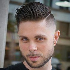 Side Layered Comb Over Fade - High Fade, Skin Fade, Fade Haircut, Mens Medium Length Hairstyles, Thin Hair Haircuts, Boy Hairstyles, Haircuts For Men, Trendy Hairstyles, Men's Haircuts, Hairstyle Men, Wedding Hairstyles, Comb Over Fade Haircut
