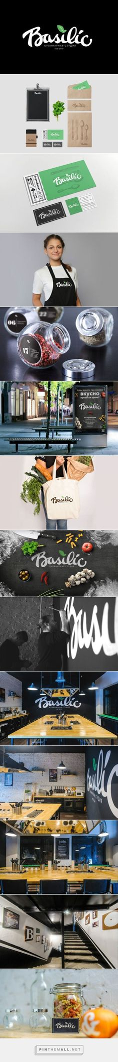 Identity / food / restaurant / Basilic Branding by Stepan Solodkov Fivestar Branding – Design and Branding Agency & Inspiration Gallery Coperate Design, Design Logo, Brand Identity Design, Graphic Design Branding, Menu Design, Brand Design, Design Agency, Stationary Design, Design Ideas