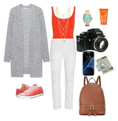 """""""Monday trip"""" by alegaravito on Polyvore featuring Acne Studios, Eres, rag & bone, FOSSIL, MICHAEL Michael Kors, Nikon, Samsung, American Coin Treasures, Converse and Avène"""