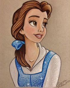 Meine Disney Zeichnung - Belle beautiful drawing by - New Ideas Disney Drawings Sketches, Cute Disney Drawings, Disney Princess Drawings, Princess Art, Cartoon Drawings, Cute Drawings, Drawing Sketches, Drawings Of Belle, Drawing Disney