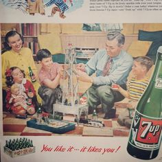 1949 Vintage Ad for 7-up Share the family by TheVintageEmpress