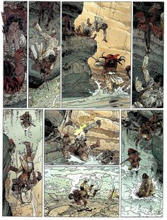 """Moebius/Jean Giraud Page 13 - Colors by Florence Breton From """"Geronimo The Apache"""" - Volume #26 Blueberry - Dargaud Edition, Paris 1999"""