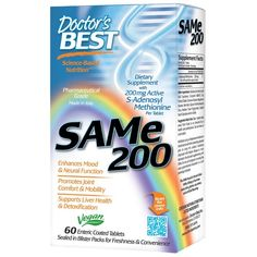 Buy Doctor's Best SAMe 200 60 Enteric Coated Tablets at Megavitamins Online Supplement Store Australia. SAMe 200 Enhances Mood & Neural Function and Promotes Joint Comfort & Mobility.