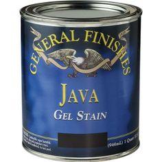 Acabados generales Gel JQ manchas, 1 cuarto, Java